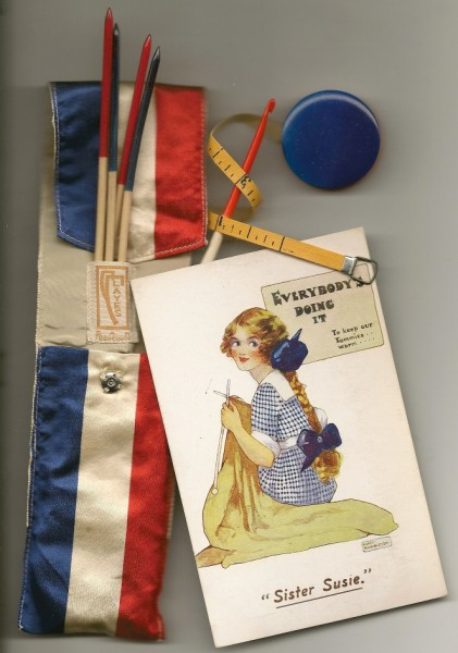 Link to History (picture of US &amp UK WWI Knitting Campaigns)